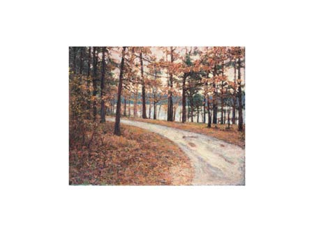 "Ken Elliott Signed and Numbered Limited Edition Giclée on Somerset Velvet Paper:""Lake Road"""