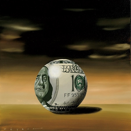 "Robert Deyber Artist Signed Limited Edition Hand-crafted Stone Lithograph:""Moneyball"""