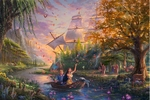 "Thomas Kinkade Limited Edition Giclee Print / Hand Embellished Canvas:""Pocahontas Colors of Love"""