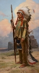 """Z. S. Liang Hand Signed Limited Edition Canvas Giclee:""""Pride of the Lakota"""""""