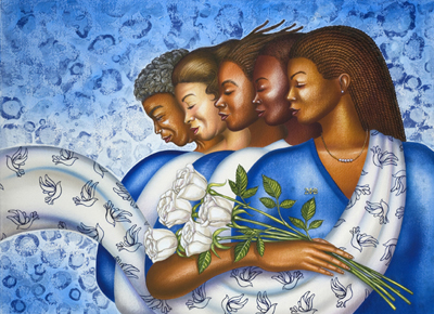 "Larry Poncho Brown Limited Edition Fine Art Print :""Zetarations (Zeta Phi Beta)"""