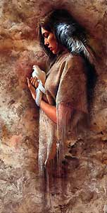 """Lee Bogle Handsigned and Numbered Limited Edition Giclee on Canvas:""""Embracing Peace"""""""