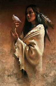 "Lee Bogle Handsigned and Numbered Limited Edition Giclee on Canvas:""Peace"""