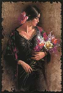 "Lee Bogle Handsigned and Numbered Limited Edition Print:""Las Flores"""
