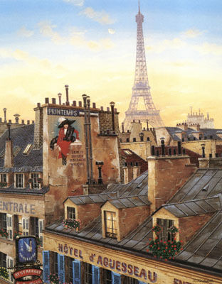 """Liudmila Kondakova Signed And Numbered Limited Edition Serigraph on Coventry Smooth White Paper :""""Paris Morning """""""