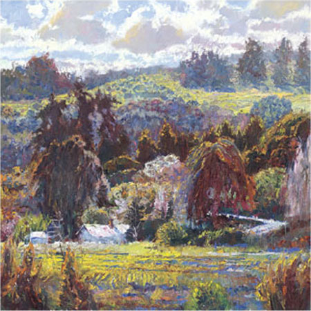 "Lois Johnson Signed and Numbered Limited Edition Giclée on Museo Paper:""Sheltered Valley I"""