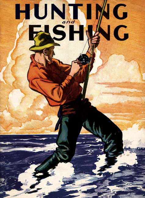 Magazine covers vintage re mastered gallery wrap canvas for Hunting and fishing magazine