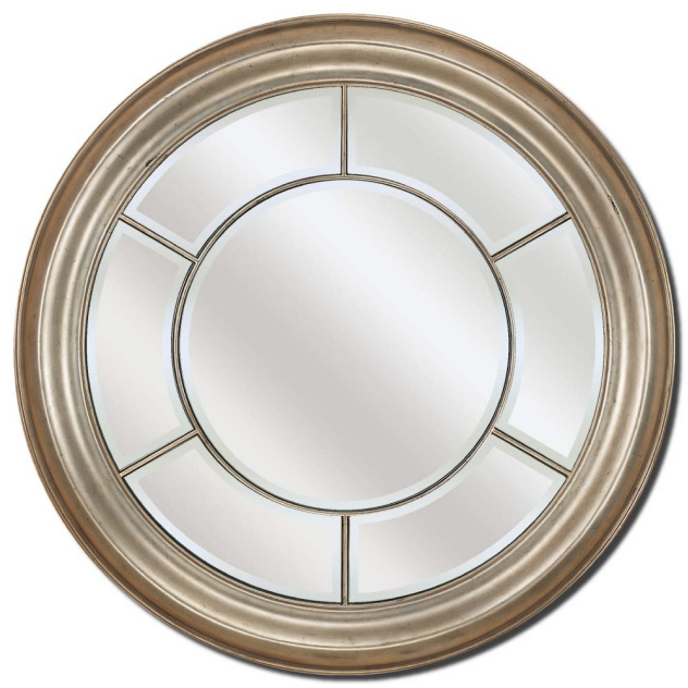 Decorative Wall Mirror By Paragon Round Silver Mirrors