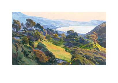 """Marcia Burtt Signed and Numbered Limited Edition Giclée on Museo Paper:""""Spring Cascade"""""""