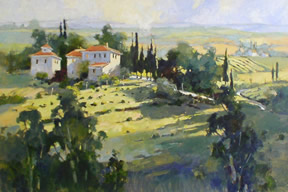 """Marilyn Simandle Handsigned and Numbered Limited Edition Giclee Graphic: """" Tuscan Sun """""""