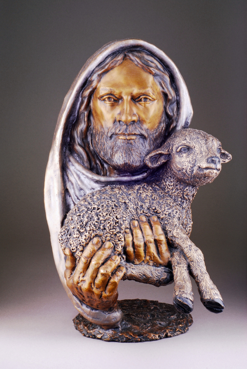 Mark hopkins limited edition bronze sculpture quot the lamb