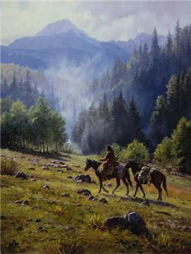 "Martin Grelle Handsigned and Numbered Limited Edition Print: ""Mists of Morning"""