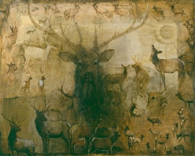 """Mary Roberson Hand Signed and Numbered Limited Edition: """"East Fork Elk"""""""