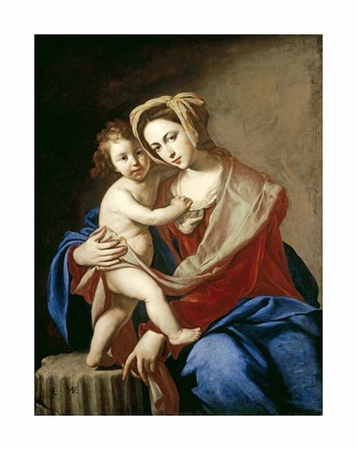 "Massimo Stanzione Fine Art Open Edition Giclée:""The Madonna and Child"""