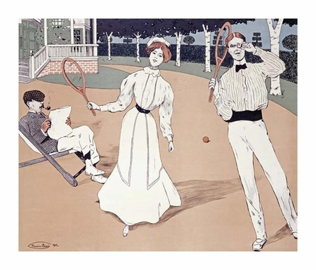 "Maurice Biais Fine Art Open Edition Giclée:""The Tennis Game"""