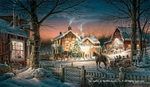 """Terry Redlin 2017 Holiday Edition Print:""""Trimming the Tree"""""""
