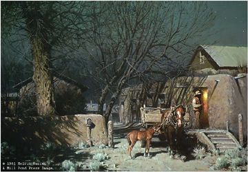 "Melvin Warren Limited Edition Publisher Proof (PP) Print:""Night In Chimayo"""