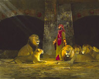 "Michael Coleman Handsigned & Numbered Giclee Limited Edition Print:""Daniel In The Lion's Den"""
