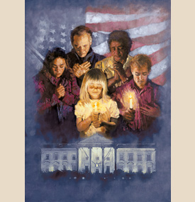 "Michael Dudash Fine Art Reproduction:""Prayer over the White House"""
