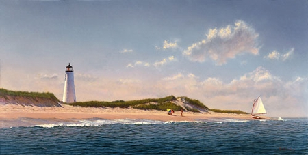 "Michael Keane Handsigned and Numbered Limited Edition Print :""Summer on Great Point"""