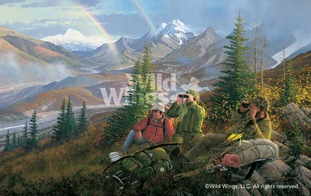 "Michael Sieve Handsigned and Numbered Limited Edition Print: ""Backcountry-Hike In"""