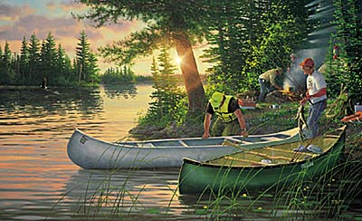 "Michael Sieve Limited Edition Print: ""Back County- Canoe In"""