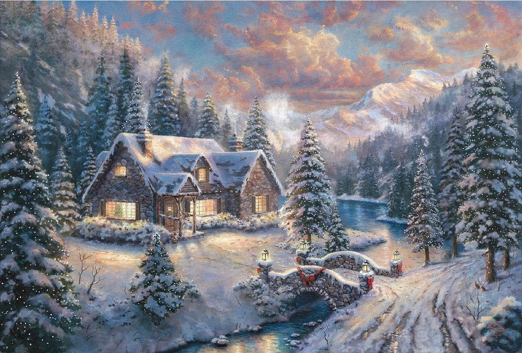 thomas kinkade 2014 christmas limited edition giclee high