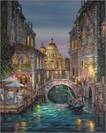 "Robert Finale Hand Signed and Numbered Limited Edition Hand-Embellished Giclee on Canvas:""Venice, Ageless Beauty"""