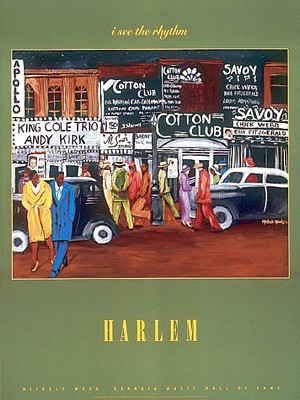 "Michelle Wood  Open Edition Poster:""Harlem"""