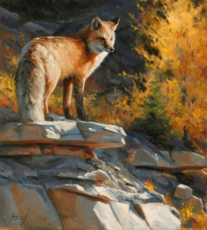 "Edward Aldrich Hand Signed and Numbered Limited Edition Giclee:""Autumn Vigil"""