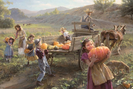 """Morgan Weistling Hand Signed and Numbered Limited Edition Canvas Giclee On Paper and Canvas:""""End of Harvest"""""""