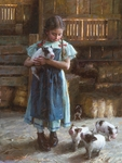 "Morgan Weistling Signed and Numbered Limited Edition Giclee on Canvas:""Pig Tales"""