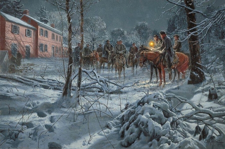 "Mort Künstler Hand Signed and Numbered Limited Edition 2012 Official Snow Print:""Shenandoah Strategy """