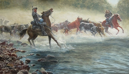 "Mort Künstler Hand Signed and Numbered Limited Edition:""The Great Beefsteak Raid"""
