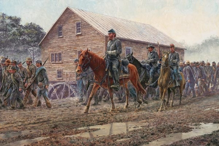 "Mort Künstler Handsigned & Numbered Limited Edition Artist Proof Print:""Jackson's Foot Cavalry"""