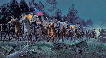"""Mort Kunstler Hand Signed and Numbered Limited Edition:""""Lee Takes Command """""""