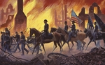 """Mort Kunstler Hand Signed and Numbered Limited Edition Canvas Giclee:""""War is Hell!"""""""
