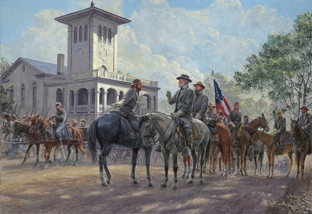 "Mort Kunstler Handsigned and Numbered Limited Edition Print:""Unconquered Spirit"""