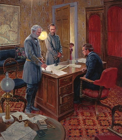 "Mort Kunstler Handsigned and Numbered Limited Edition Print: ""White House Strategy """