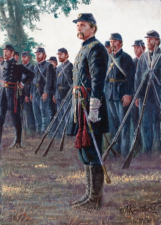 "Mort Kunstler Handsigned & Numbered Limited Edition Four Generals Print:""American Hero, An """