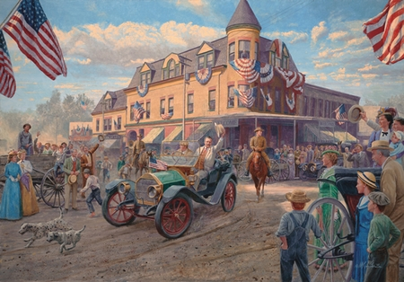 "Mort Kunstler Handsigned & Numbered Limited Edition Print:""Teddy's Fourth of July"""