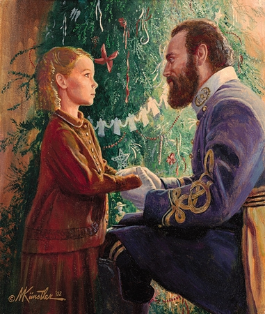 "Mort Kunstler Limited Edition Christmas Print: ""Janie Corbin and Old Jack (Christmas 1862)"""