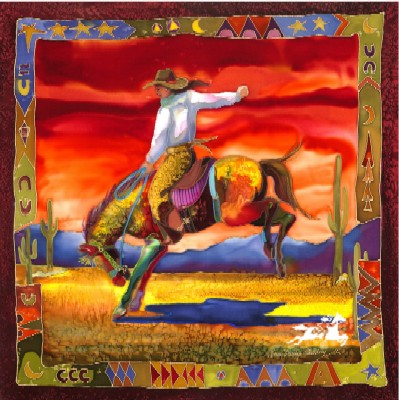 "Nancy Dunlop Handsigned and Numbered Cawdrey Limited Edition Print:""Desert Rein Dance"""