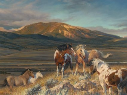 """Nancy Glazier Handsigned and Numbered Limited Edition Giclee: """"Bright Band"""""""