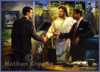 "Nathan Greene Limited Edition Lithograph:""The Senior Partner"""