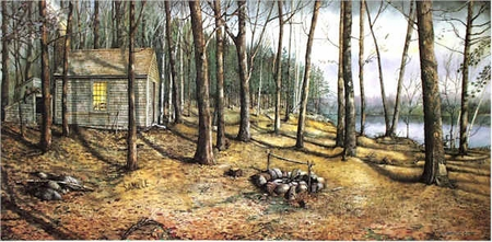 "Nicholas Santoleri Limited Edition Print:""Woodland Visitors"""