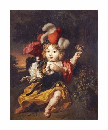 """Nicolaes Maes Fine Art Open Edition Giclée:""""A Boy in Classical Costume"""""""
