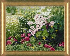 "Patrice Procopio Limited Edition Canvas:""Door County Petunias"""