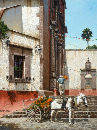 """George Hallmark Hand Signed and Numbered Limited Edition Giclee:""""Todos Santos"""""""