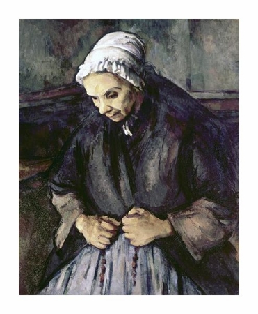 "Paul Cezanne Fine Art Open Edition Giclée:""An Old Woman with a Rosary"""